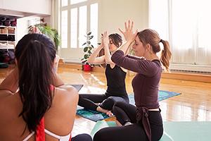 Photo groupe de yoga