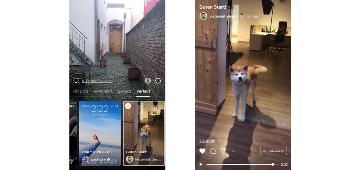 igtv iphone Bildschirmfotos