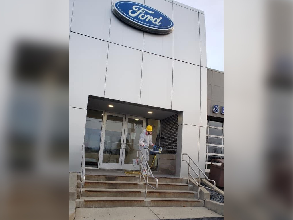 fogging cleaning at ford