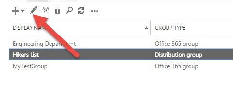 Group Edit Option in Exchange Admin Center