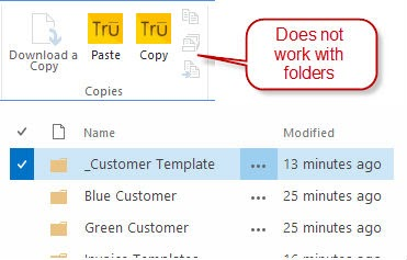 Send File Option in SharePoint is grayed out when a folder is selected. Folders are not supported.