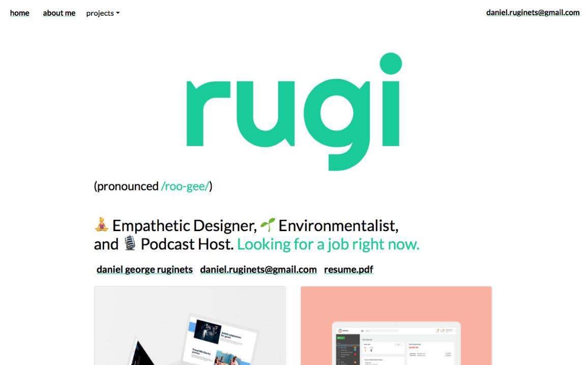 Student project screenshot