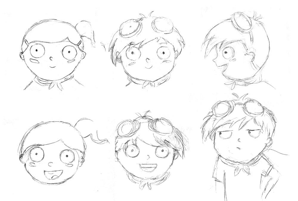 Cyberheroes character sketch