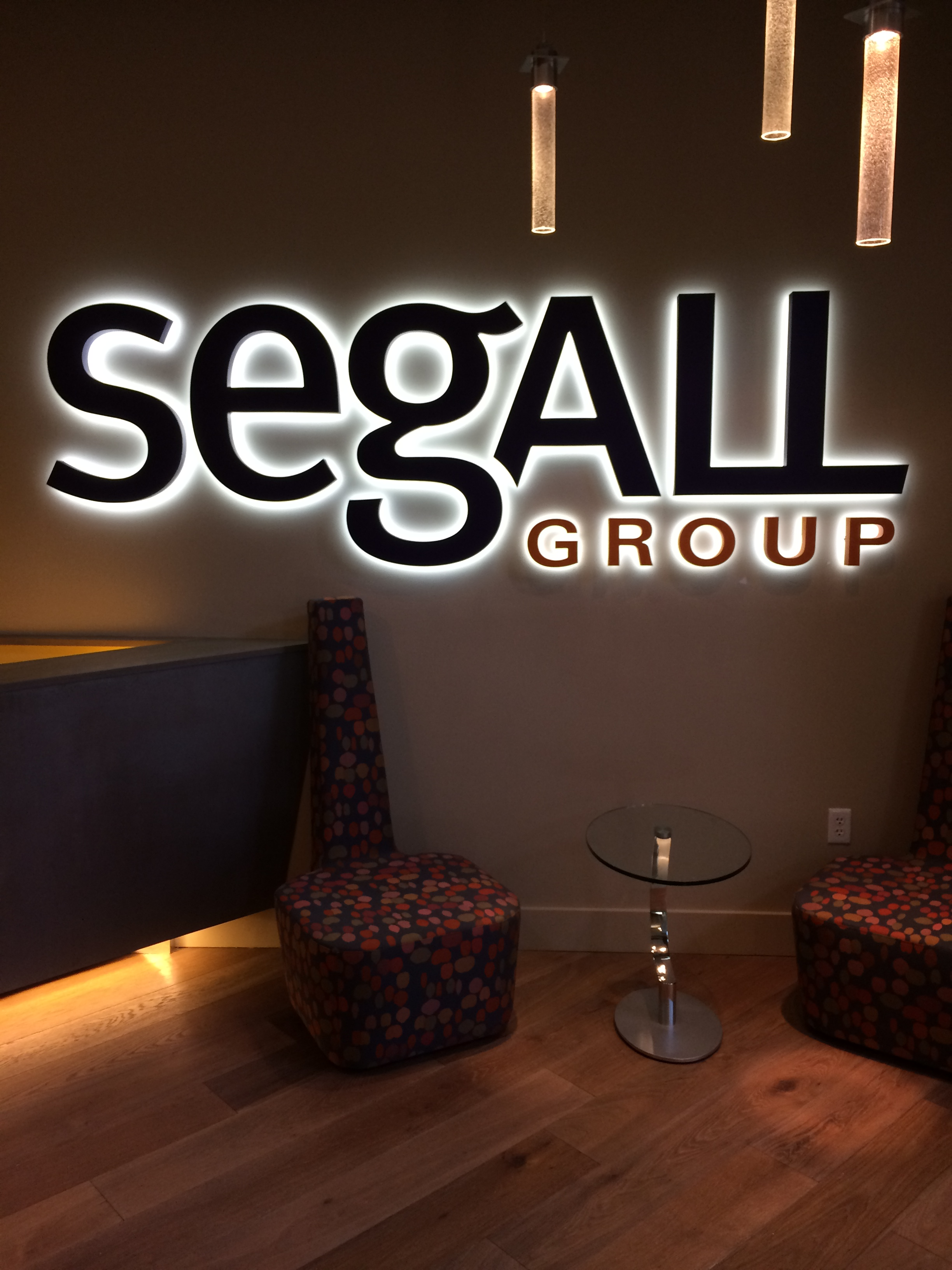 Segall Group - Halo Lettering