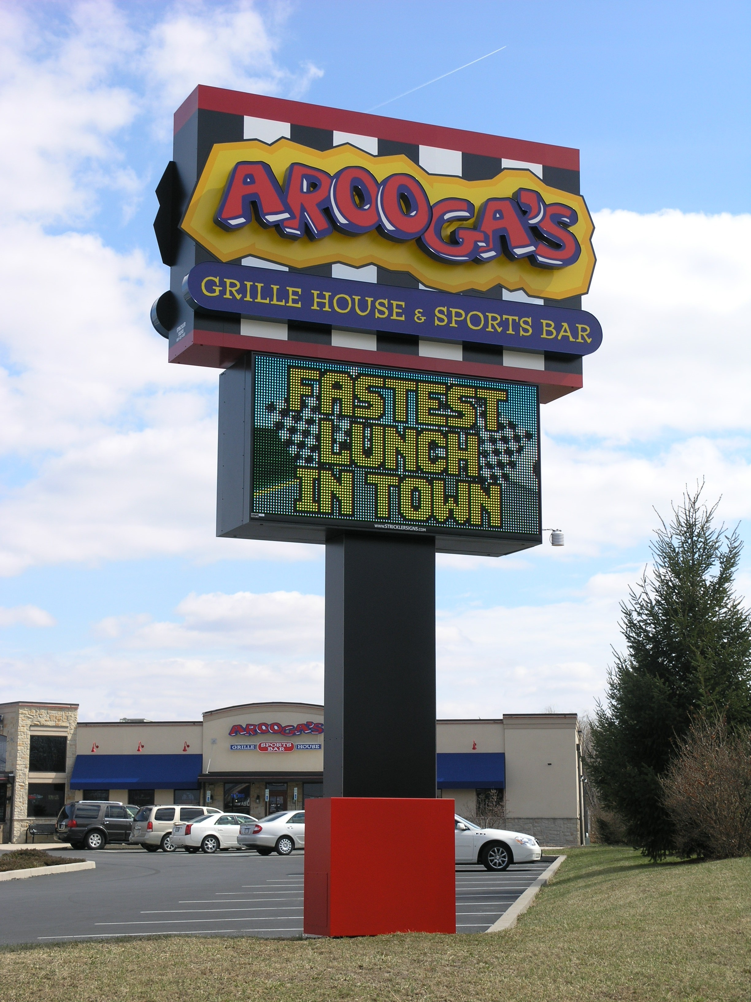 AROOGAS - Pylon w Digital Sign