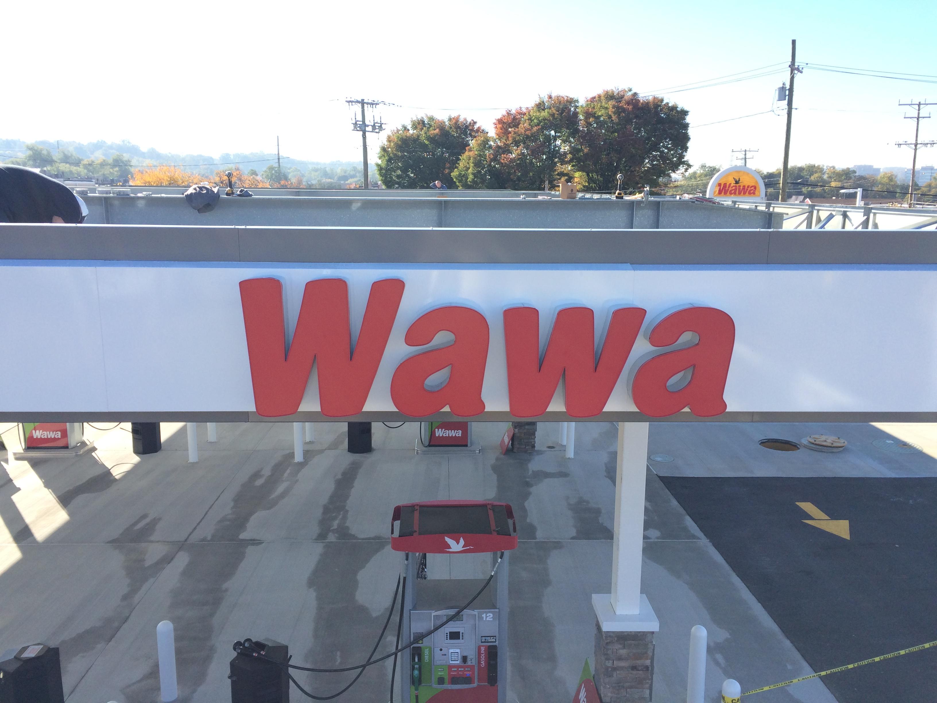 Wawa - Channel Letters - Illuminated