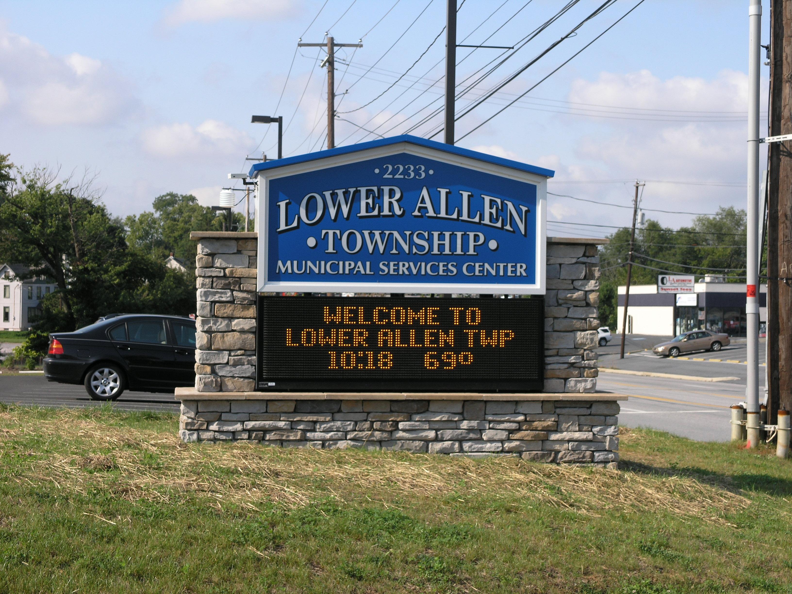 Lower Allen Township - Monument w Digital Sign