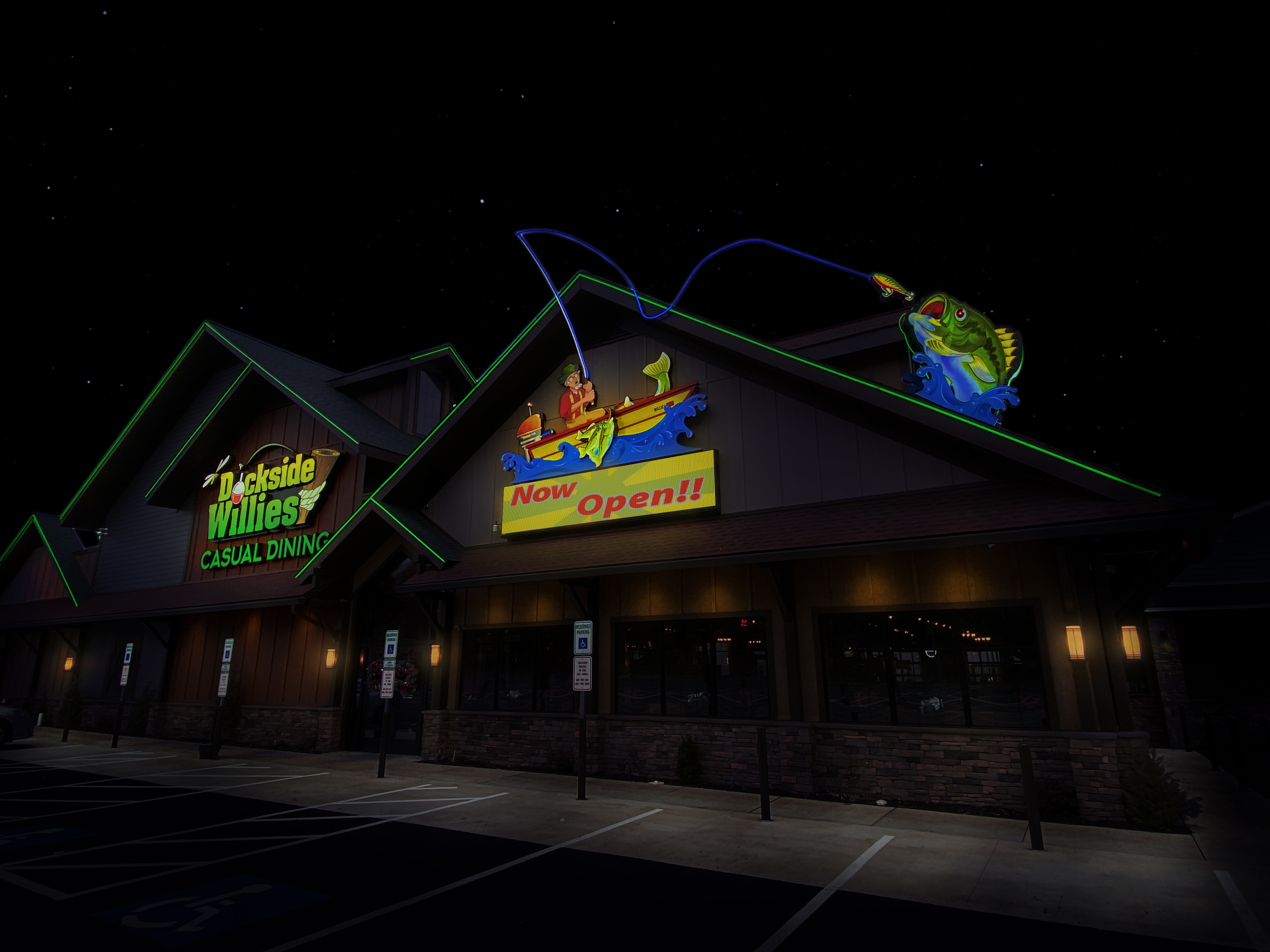 Dockside Willies - Fully Customized Night View