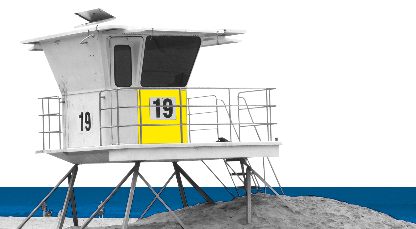 Context image of the local Mission Beach lifeguard tower as an inspiration for the materiality of the QTCT project
