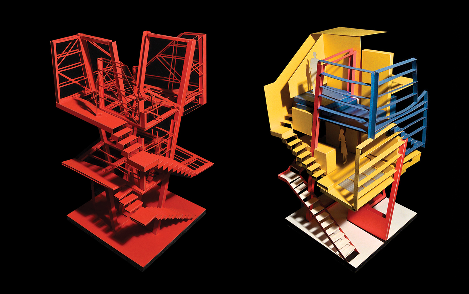 Pair of model studies looking at the structural system and shelving systems stabilizing the CTST infill construction