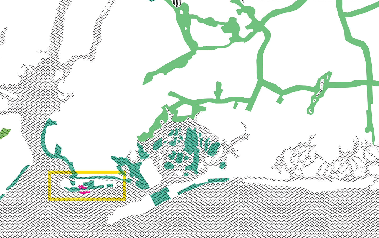 Plan of the greater NYC region locating CISL in relation to other coastal landforms
