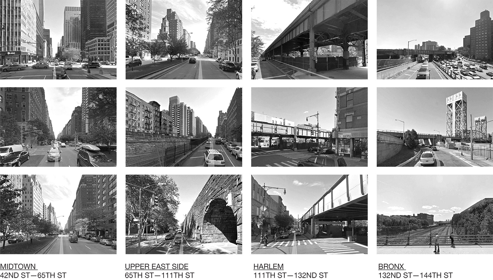 Collection of photos along Park Avenue documenting the underutilized spaces that could be used for infill housing via ININ