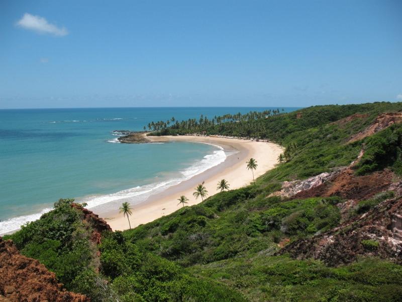 imagem do alto da praia do amor paraiba