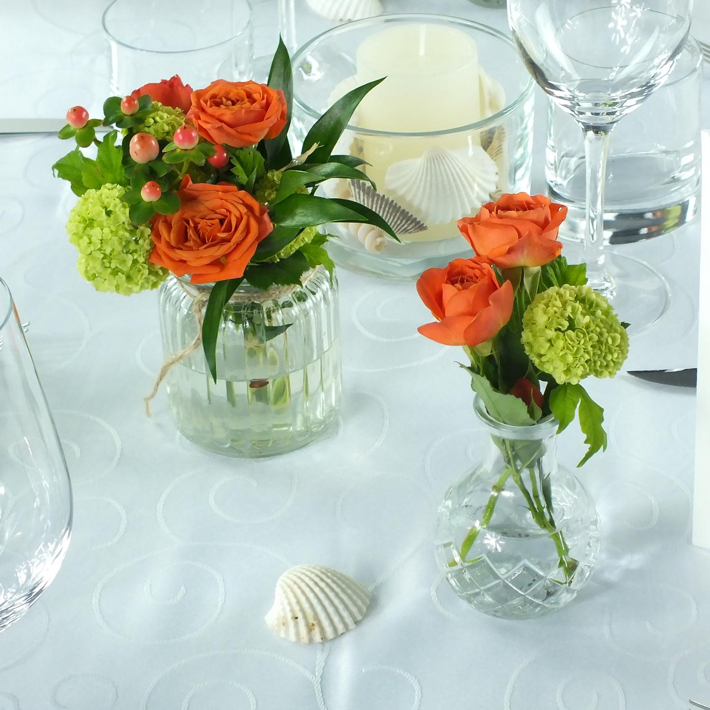tischdeko, hochzeitsfloristik, rosen