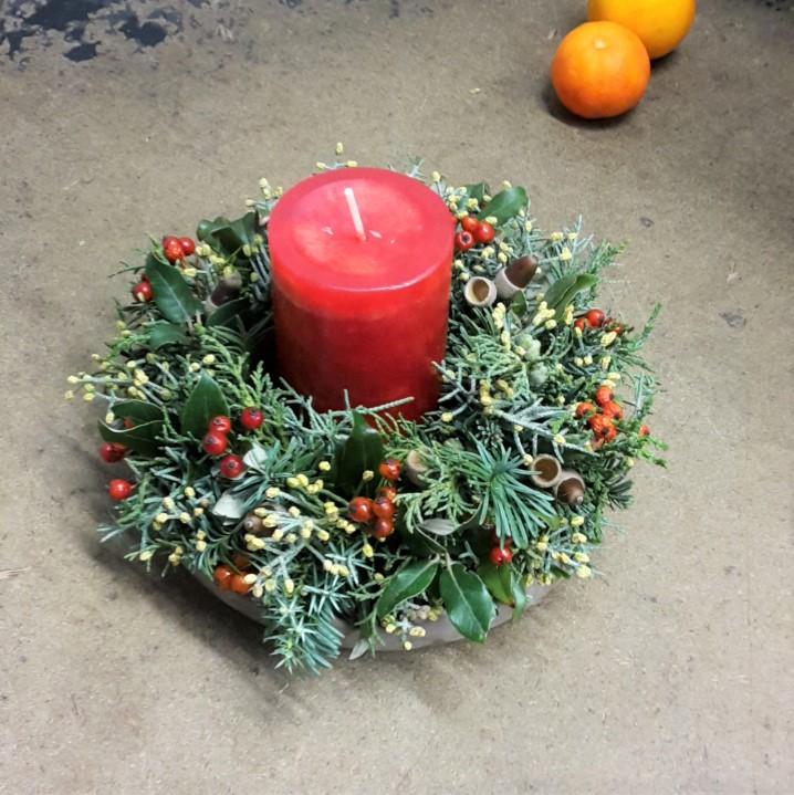 weihnachtskranz, tischdeko, eventfloristik