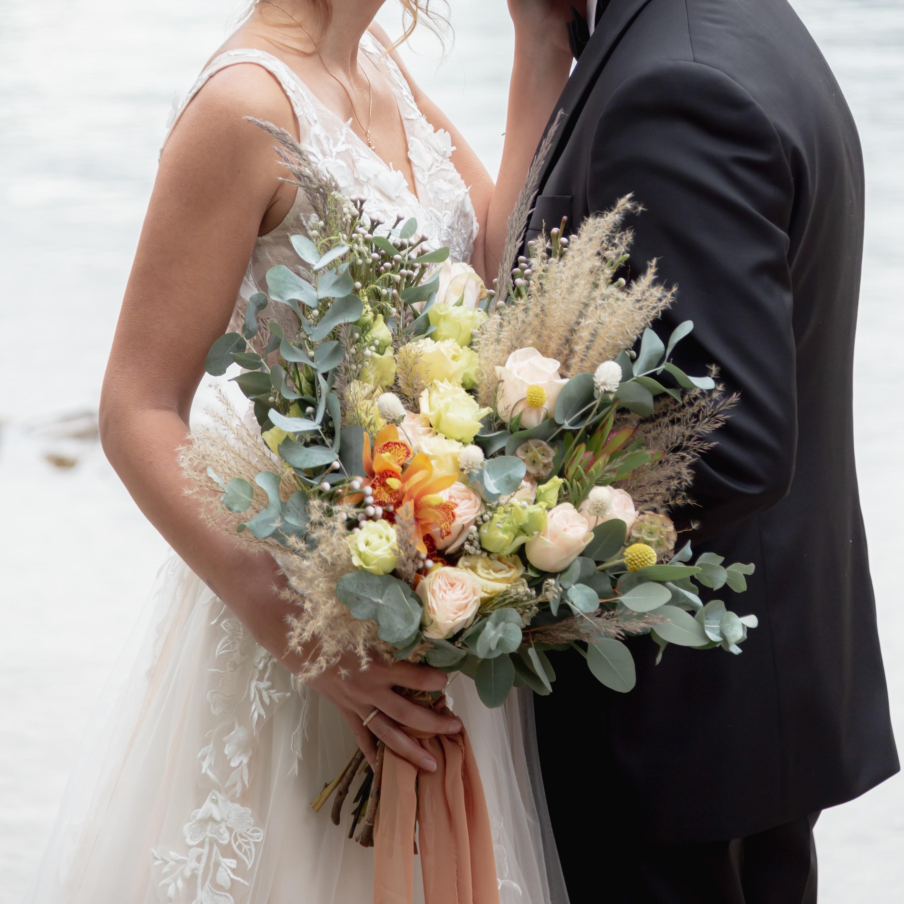 Brautsträuße, Brautstrauß, alstromeria, gerbera
