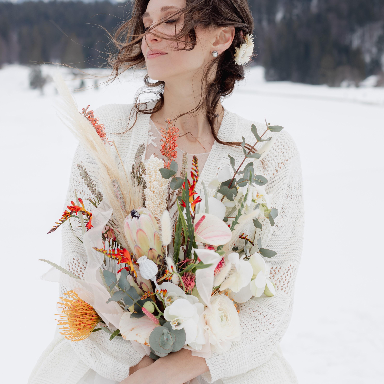Brautsträuße, Brautstrauß, rosen