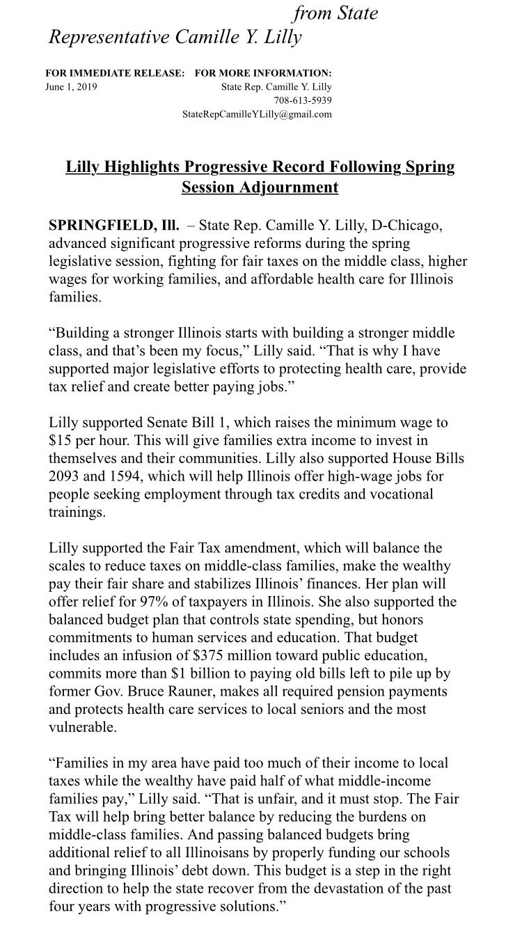 Lilly Highlights Progressive Record