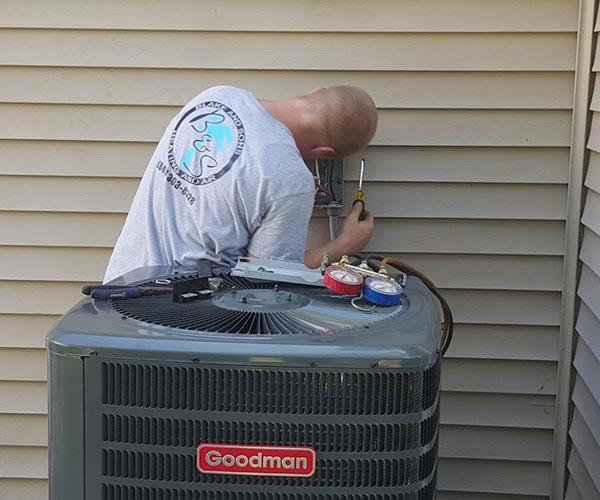 repairing an ac unit in ladson