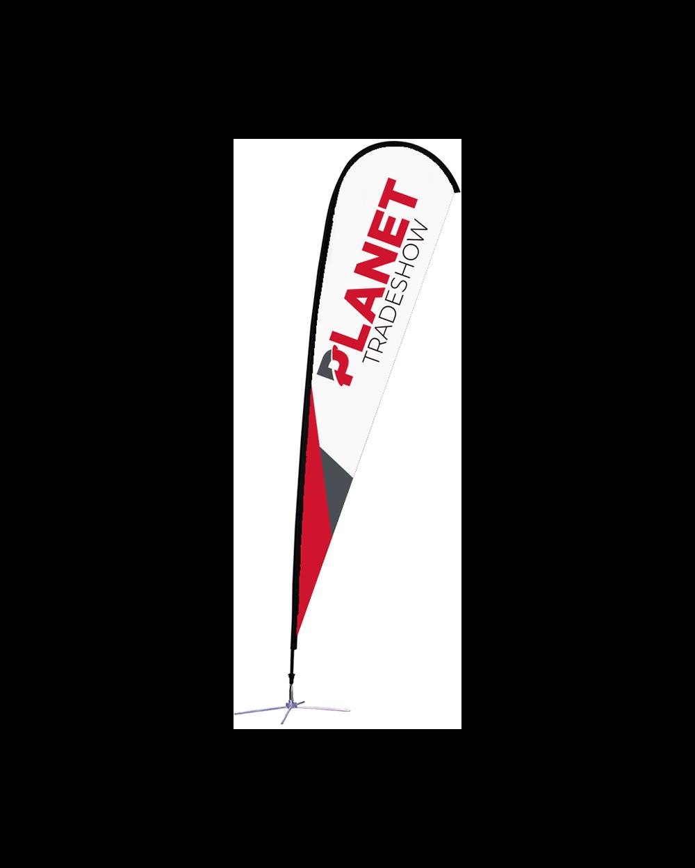 15ft Single-Sided Teardrop Flag