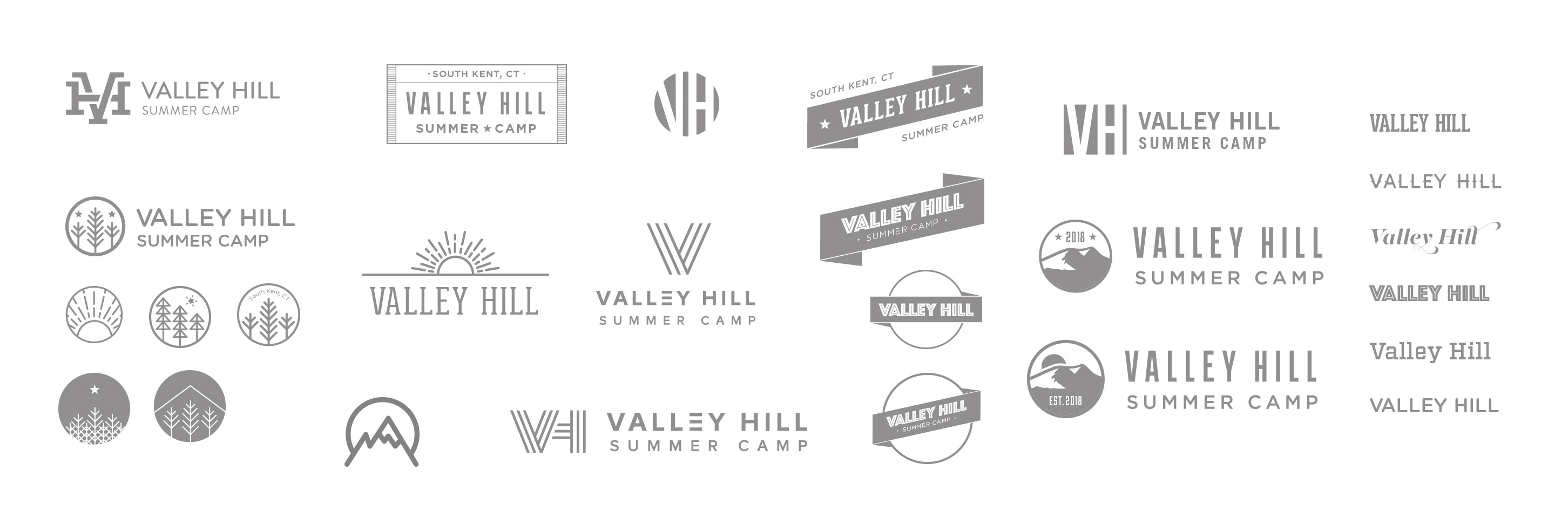 Valley Hill Summer Camp logo sketches