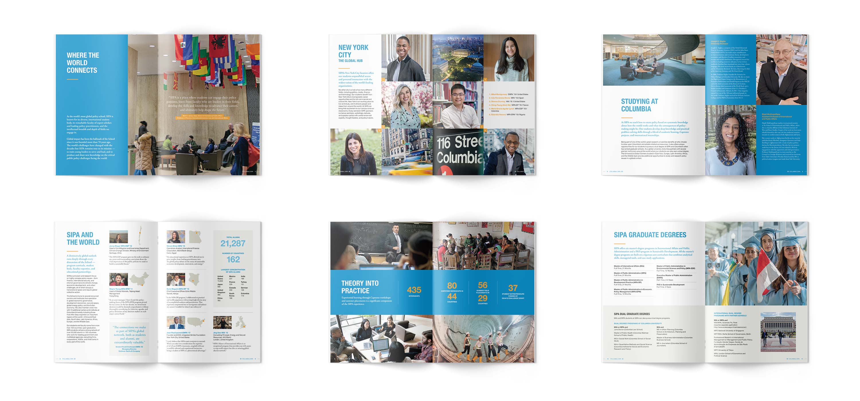 Columbia SIPA Admissions Brochure interior spreads
