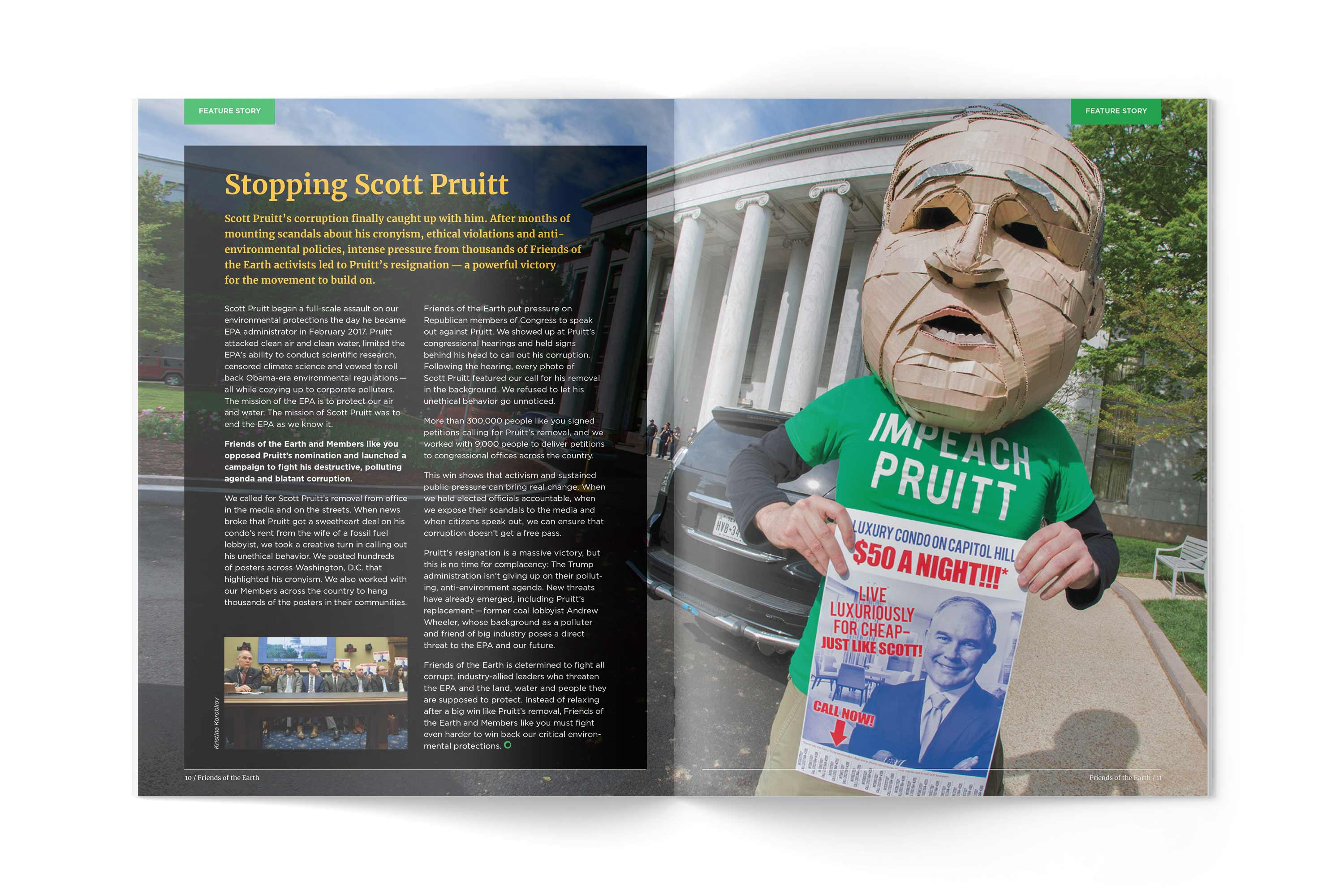 Friends of the Earth article about Scott Pruitt