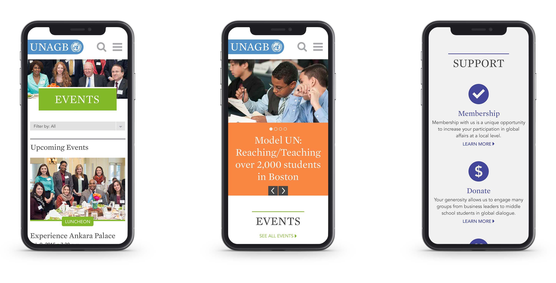 UNAGB Website on iPhones