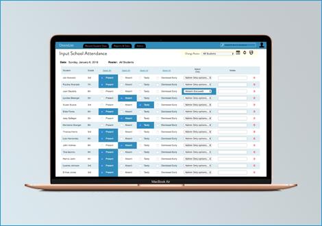 Easy attendance web interface