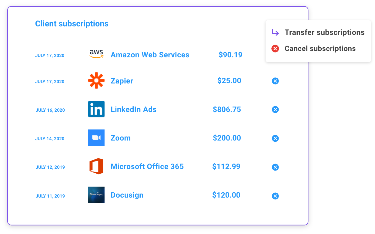 A single pane of glass for all your client's subscriptions