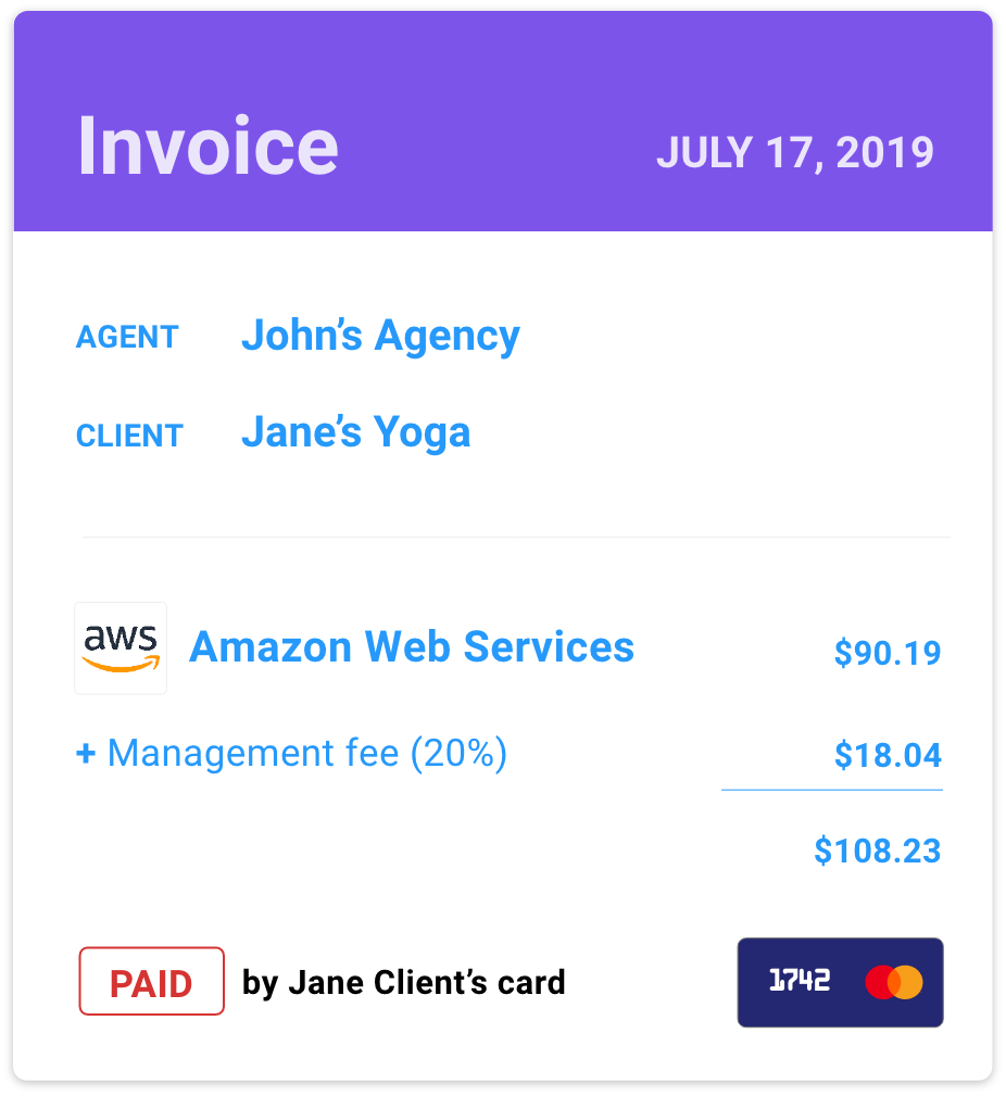Automatically invoice and expense client subscriptions