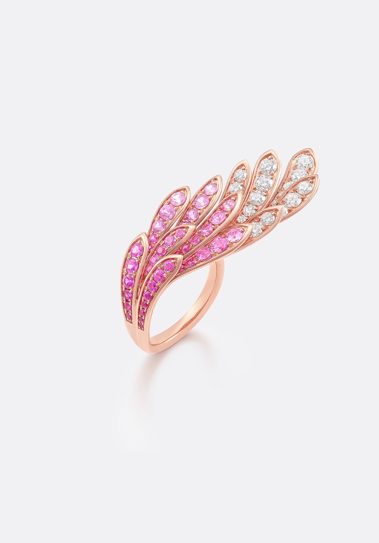 Ring - nuanced craftsmanship evokes a bird in flight.