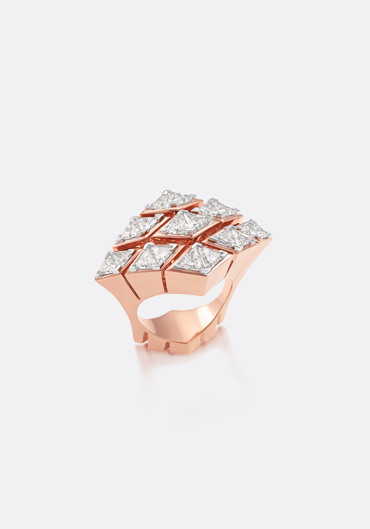 Ring - dramatic edges, extruded metal and bold forms come together.
