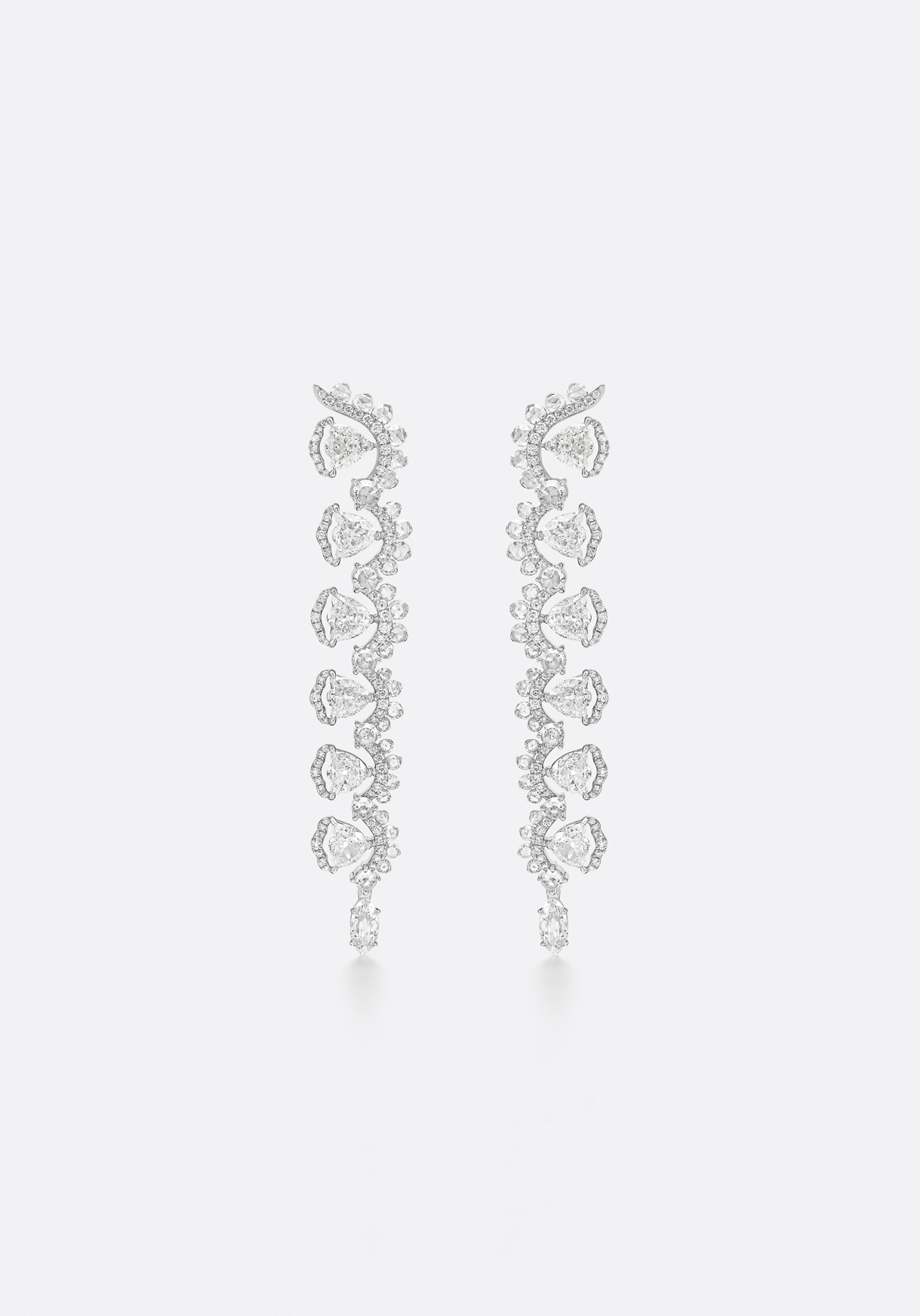 Earrings - expertly crafted in the en-tremblant technique.