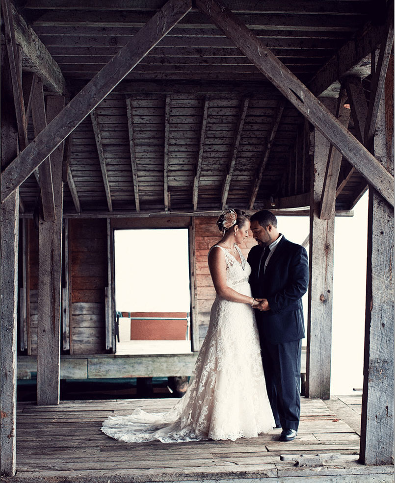 Couple at the boathouse