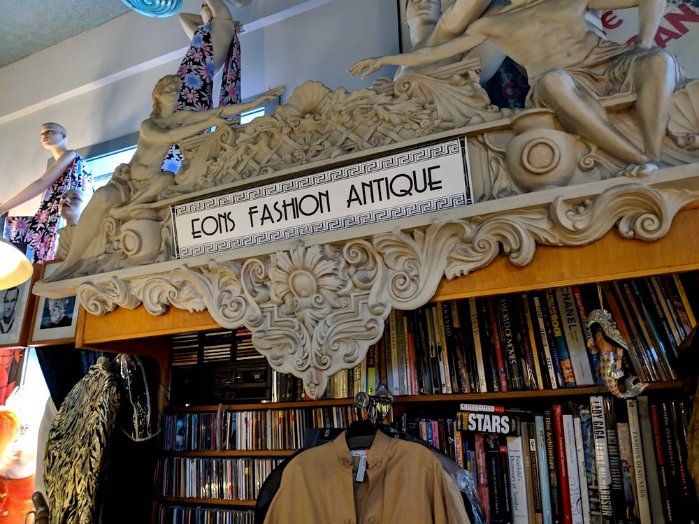 Multiple vintage clothing items are featured at Eons