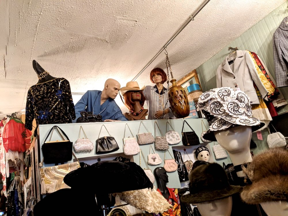selection at Hey Betty vintage clothing store