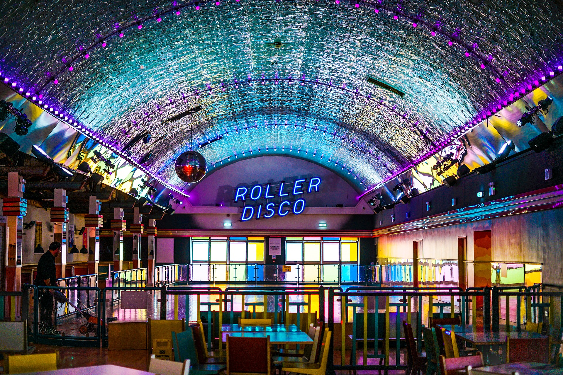 Roller disco at Belvederes Ultra Dive
