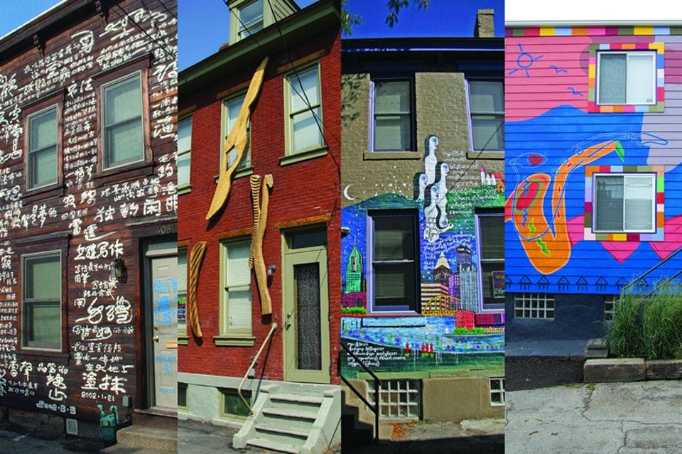 Artwork on homes by City of Asylum