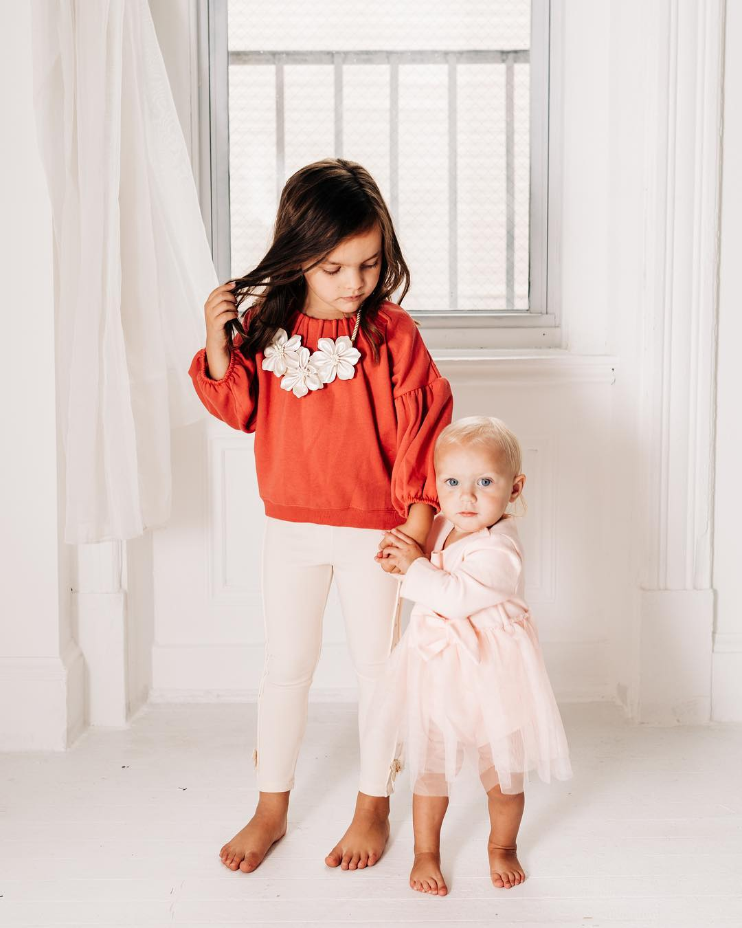 toddler & baby in outfit from Precious and Posh