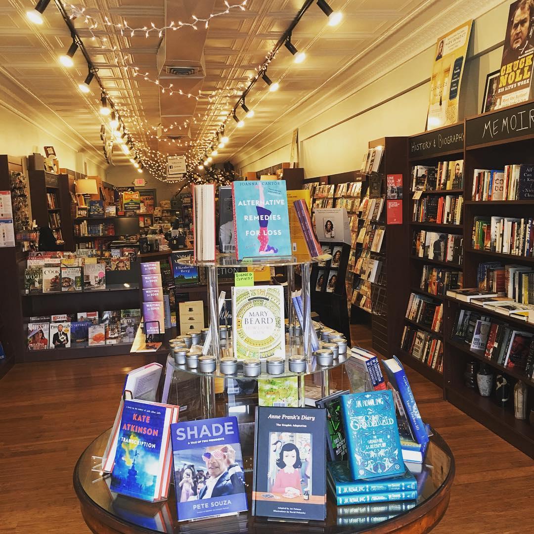 lots of books in Penguin Bookshop