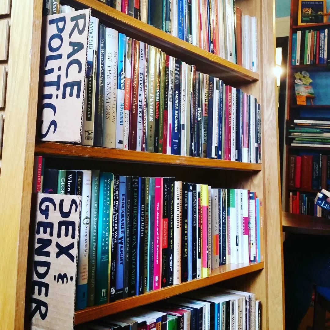 books on shelf in The Big Idea bookstore