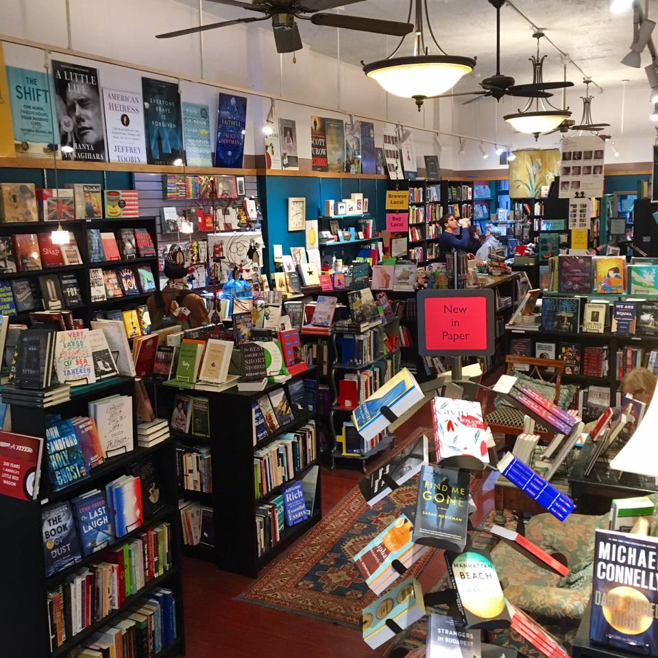 lots of books inside of Classic Lines bookstore