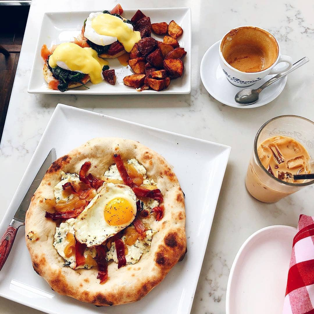 delicious brunch on able at DiAnoia's Eatery