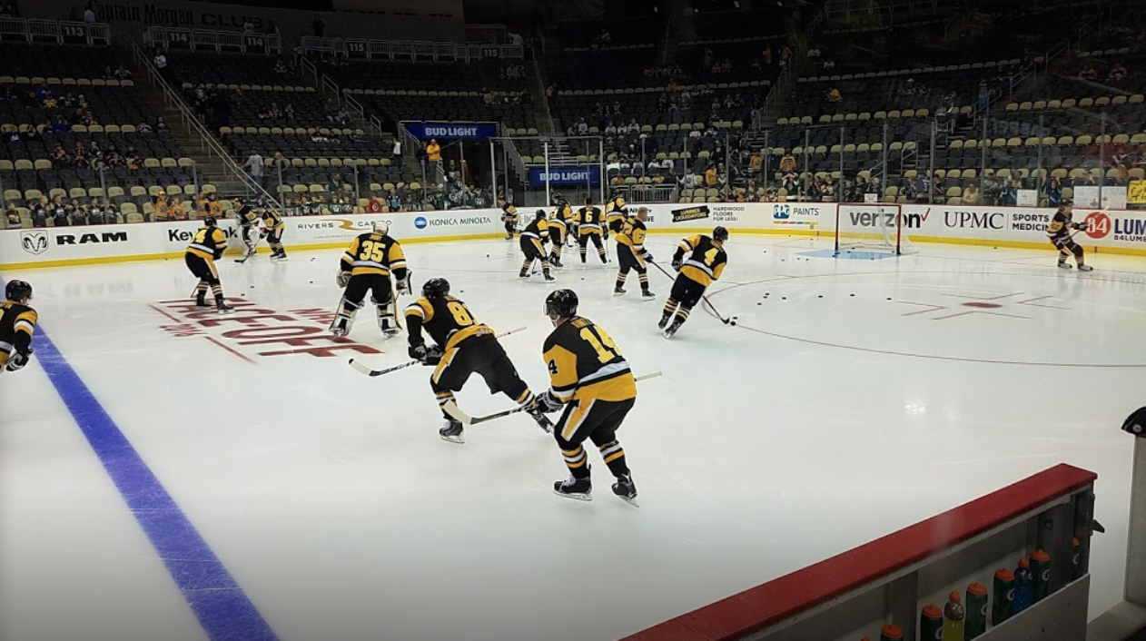 Practice and warm up at PPG Paints Arena