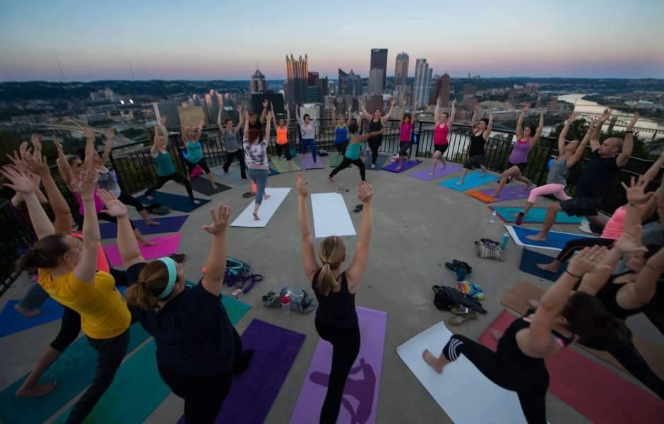 Yoga on the overlook