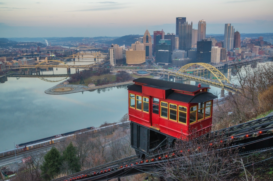 The famous inclines of Pittsburgh
