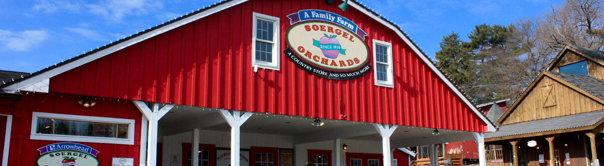 Main entrance to the shop at Soergel Orchards