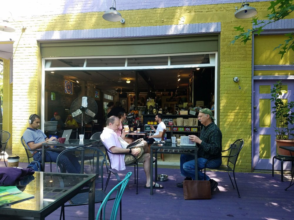 outdoor seating at biddle's escape