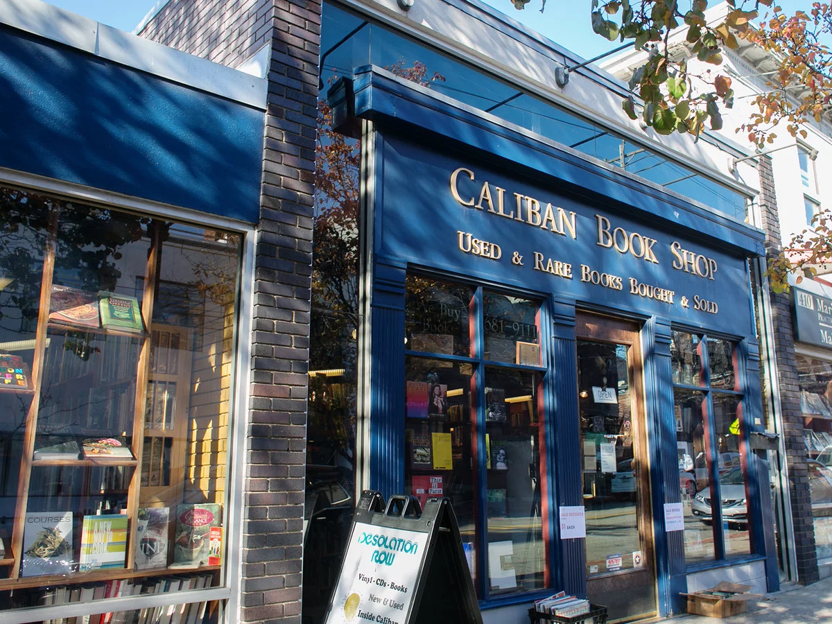 the storefront of Caliban Book Shop
